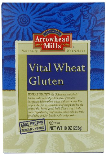 Arrowhead Mills Vital Wheat Gluten, 10 Ounce (Pack of 12) by Arrowhead Mills