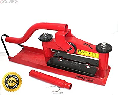 "COLIBROX--3.5"" Tool Shop Guillotine Paver Splitter Concrete Block Brick Retaining Wall NEW. Adjustable back stop with rule Fine adjustments are made with the unique front crank handle."