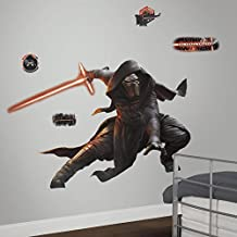 RoomMates RMK3148GM Star Wars EP VII Kylo Ren P and S Giant Wall Decal with Glow in The Dark, 61.53-Inch Wide X 40.95-Inch High