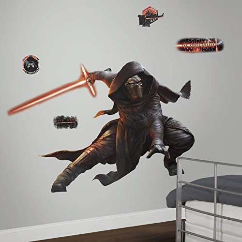 RoomMates RMK3148SLM Star Wars EP VII Kylo Ren P&S Giant Wall Decal with Glow in The Dark, 61.53