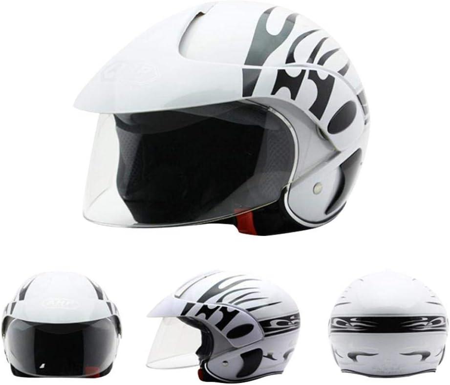 MezoJaoie Casque de Moto pour Enfants 48-52cm Demi-Casque Unisexe Harley
