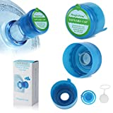 Magicfour 5PCS 55mm 3 & 5 Gallon Non-Spill Caps,Replacement Water Bottle Snap On Cap Anti Splash Peel 5 Piece