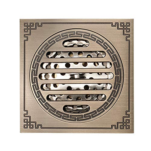 Pure Cupper Antique Floor Drain Tile Insert Square Shower Floor Drain 4-Inch Insect Proof, Anti-Backwater And Deodorant Floor Drain Anti-Clogging by YJZ (Image #3)