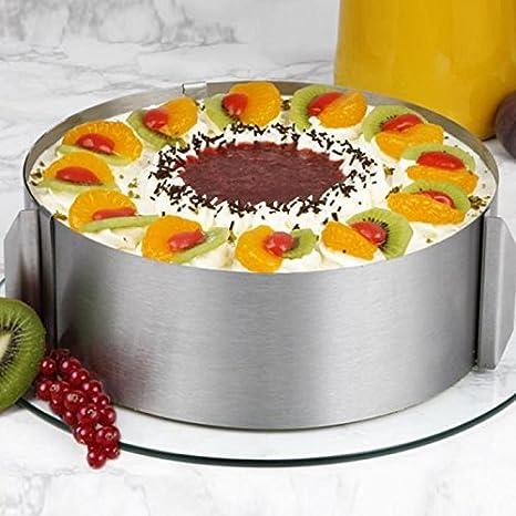 coolbeauty retráctil Círculo Anillo Mousse molde para horno para tartas de acero inoxidable juego de herramientas para molde de tamaño ajustable para horno ...