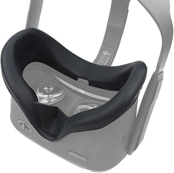 Mask Cushion VR Silicone Mask Pad /& Sweatproof Face Cover Compatible for Oculus Quest Face Cushion Gray