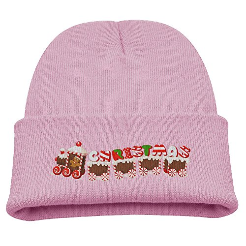 merry-christmas-candy-train-unisex-winter-skull-cap-sets-hat-for-kid