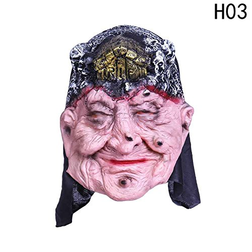Uspeedy Zombie Mask Head Mask Horror Mask for Halloween Costume Party (2 4 Zombie (Best Goku Costume)