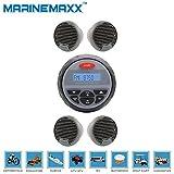 "Marine Stereo MP3 USB Bluetooth Radio Receiver +4Pcs 3"" Marine Boat Speakers New"