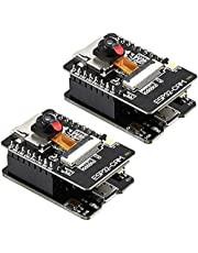 Wobekuy ESP32-CAM-MB WiFi Development Board OV2640 Camera Module -USB Interface CH340G USB to Serial Port 2Pcs