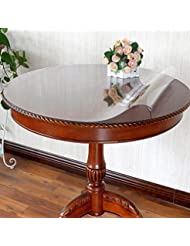 LovePads Custom Round 2mm Thick Clear PVC Table Top Protector Plastic  Tablecloth Cover Circle Wooden Furntiure