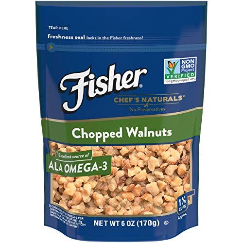 FISHER Chef's Naturals Chopped Walnuts, No Preservatives, Non-GMO, 6 -