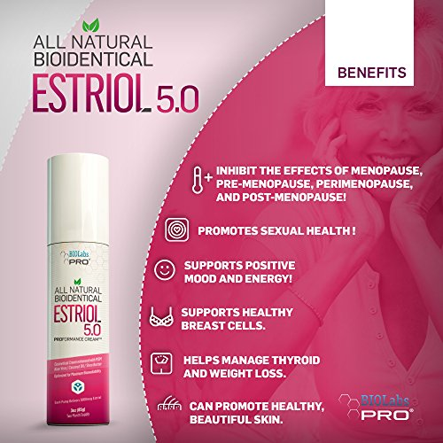 Estriol - All Natural Bioidentical Estriol 5.0 - Age Management for Women - Professional Strength - Two Month Supply - 3oz. by BIOLABS PRO (Image #1)