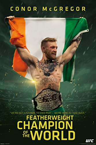 Pyramid America UFC Conor McGregor Champ Sports Poster 24x36