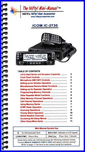 Manual Icom Radio (Nifty Accessories Mini-Manual for The Icom IC-2730)