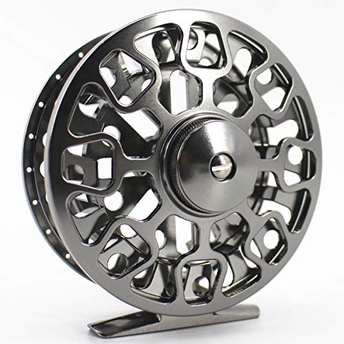 Saion Fly Fishing Reel CNC-Machined Aluminum Alloy 7/8 Disc Drag Right Left Handed 95mm Diameter -