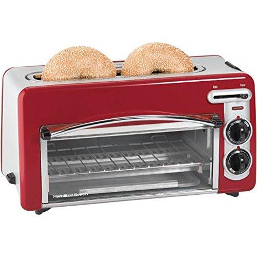 Gracelove Red 110 V AC 2 Slices 2-in-1 2-Slice Toaster & Oven