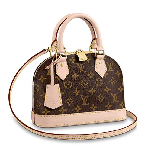 TAFULOR Monogram canvas mini handbags contain keys, wallets, mobile phones and lipsticks.The Alma BB bag comes with a shoulder strap for a light cross body