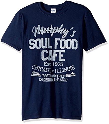 (American Classics Unisex Blues Brothers Soul Food Cafe Adult Short Sleeve T-Shirt, Navy, XXLarge)