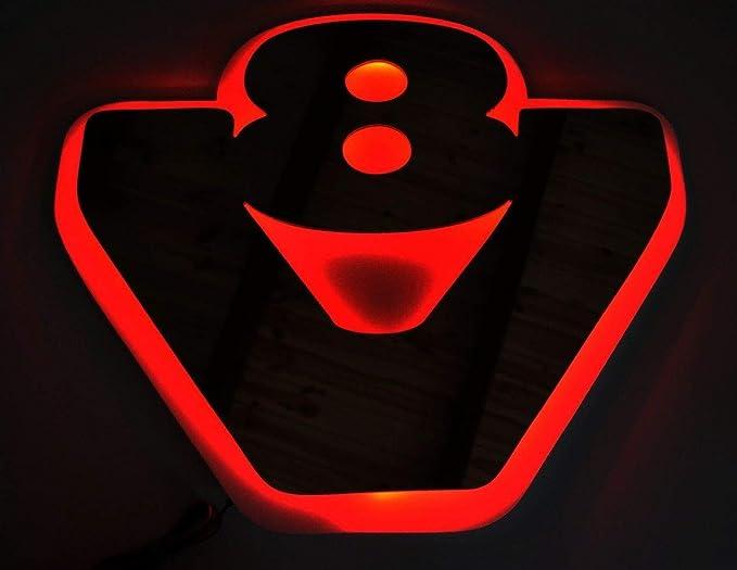 24v Rot Led 3d Platte Silber Matt Grau Neon Rot Lichtschild V8 Für Scania Lkw Und Lkw 540 X 460 Mm Auto