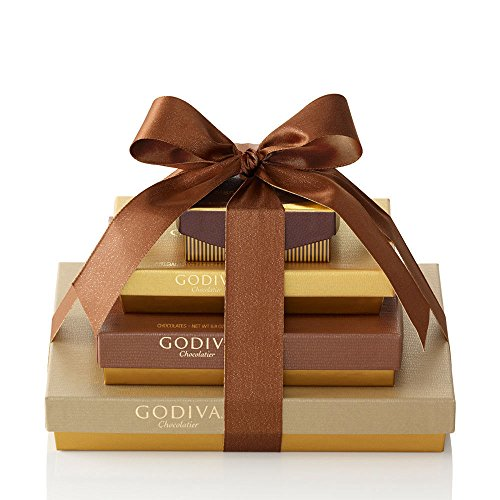 Godiva Chocolatier Sweet Surprise Gift Tower, Chocolate Variety Gift Basket, Great for Valentines Day, 46 Count