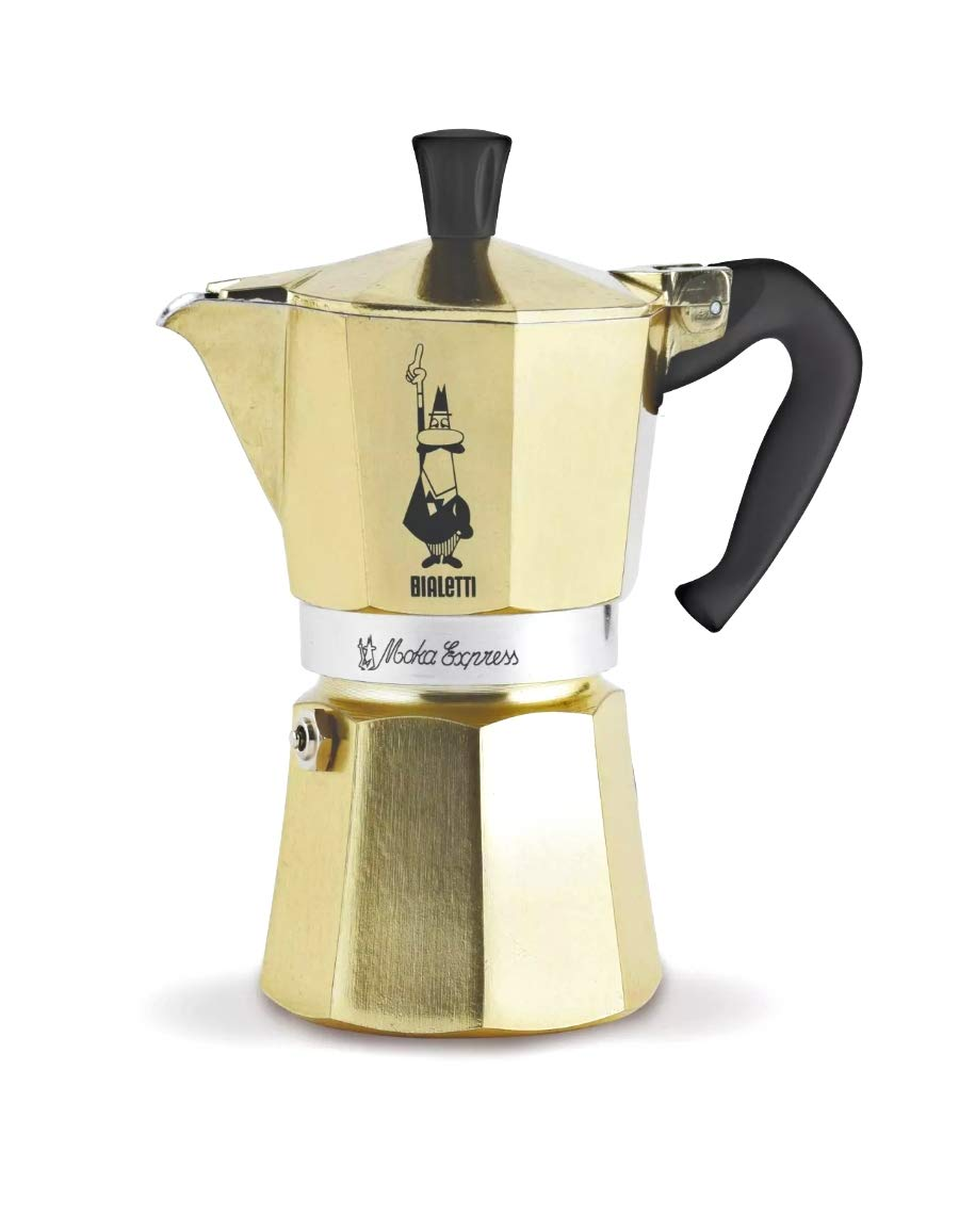 Bialetti 6-Cup Moka Express Oro [Gold Limited Edition]