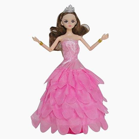La ropa del vestido de fiesta de la boda de moda hecha a mano Snner vestidos de la muñeca ...
