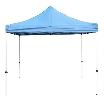 DXP Pavillon tonnelle de jardin pliant 3 x 3 m Tente pliable bleu ...