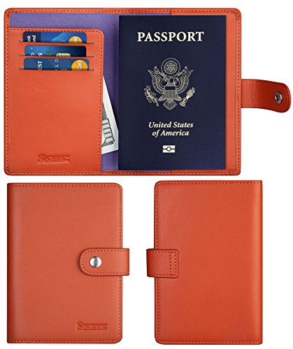 SimpacX Leather Passport Holder Wallet Cover Case Travel Wallet RFID Blocking 12 Contract Colors