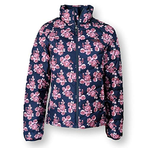 (The North Face Women Flare Down Jacket Coat, Urban Navy Large Flower Print, Small)