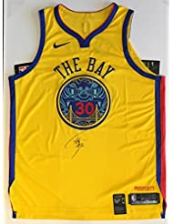 Stephen Curry Autographed Golden State Warriors Jersey - On-Court Authentic GOLD Authentic Chinese Heritage edition. Signed on FRONT @ private autograph session. Beckett BAS COA.