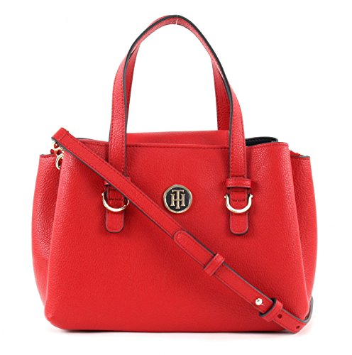 TOMMY HILFIGER TH Core Medium Satchel CB Tommy Red / Navy