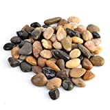 River Pebbles, GTKRTU 2.9lb/1300g River Rock Stones Polished Gravel For Aquariums, Landscaping, Vase Fillers, Succulent, Tillandsia, Cactus pot, Terrarium - Mixed