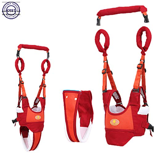 Baby Walker Toddler Walking Assistant Protective Belt,VIORKI Multifunction Breathable to Prevent Falling Learning Assistant,Help The Baby Safely Stand up and Walking(Orange)
