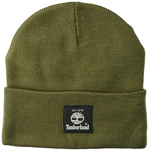 Timberland Men's Short Watch Cap with Woven Label, Grape Leaf, One ()
