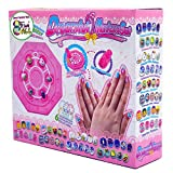 Kids Nail Art Manicure Kit Set for Girls Ages 7-12 Years Birthday Children's Day Xmas Party Favor - Include 6 Different Colors Nail Patches & 8 Themes Nail Manicures Stickers