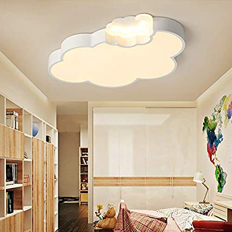 Litfad Dimmable Led Ceiling Light Cartoon Cloud Design Ceiling Lamp Fixture In White For Girls Bedroom Kids Room Children Bedroom Study Room Amazon Com