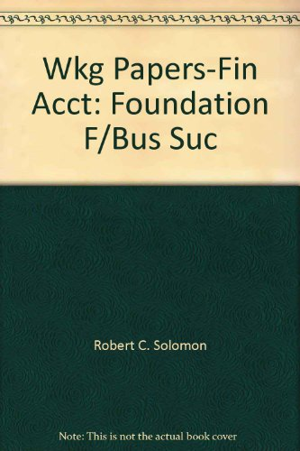 - Wkg Papers-Fin Acct: Foundation F/Bus Suc