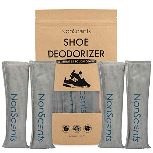 NonScents Shoe Deodorizer - Odor Eliminator, Freshener for Sneakers, Gym Bags, and Lockers (2-Pair)