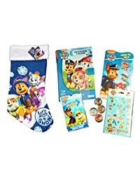 Paw Patrol Pre-Filled Christmas Stocking for Boys Ages 3 to 8 Features Marshall, Rubble and Chase Stuffed with 5 Fun Items Holiday Gift Bundle BOBEBE Online Baby Store From New York to Miami and Los Angeles