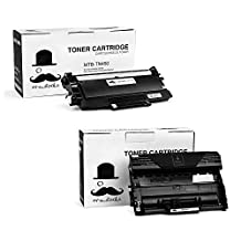 Moustache ® Brother TN-450 & DR-420 (1*Toner + 1*Drum Unit) TN450 DR420 Compatible Black BK Laser Cartridge Combo Pack for DCP-7060D DCP-7065DN HL-2130 HL-2132 HL-2220 HL-2230 HL-2240 HL-2240D HL-2242D HL-2250DN HL-2270DW HL-2275DW HL-2280DW IntelliFax-2840 IntelliFax-2940 MFC-7240 MFC-7360N MFC-7365DN MFC-7460DN MFC-7860DW