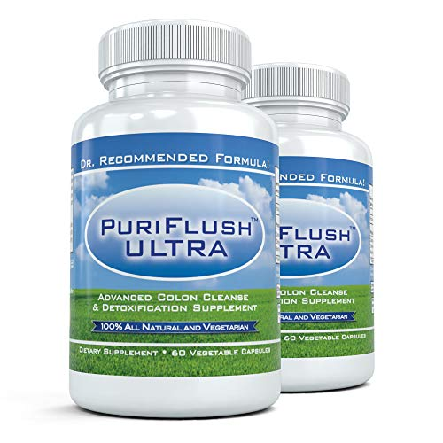 PURIFLUSH ULTRA (2 Bottles) – Advanced All Natural Colon Cleanse Formula – Intestinal Detox Supplement for Cleansing…