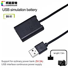 NP-BX1 Dummy Battery DK-X1 DC Coupler Plus a USB Cable for Sony Cybershot RX100 M2 M3 M4 RX1 RX1R RX100 II III IV Digital Cameras