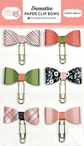 mpany CBRBG63062 Rock-a-Bye Girl Decorative Paper Clip Bows (Designer Paper Clips)