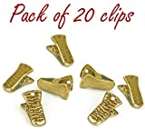 Metal Bulldog Clips for ID Badge Holders Lanyards Jewelry - Mini Alligator Grip Style (Gold Pack of 20)