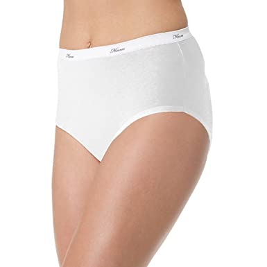 c143ea229ab2 Image Unavailable. Image not available for. Color: Hanes Women's 6Pack  White Cotton Briefs ...