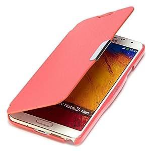 youcase - Samsung Galaxy Note 3 Neo N7505 Slim Flip Funda de piel con tapa cartera color carcasa Case cuero rojo