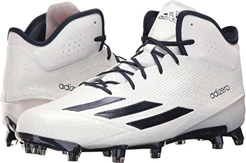 Adidas Performance Mens Adizero 5 Stelle Star Mid Football Bianco / Blu Scuro / Blu Scuro