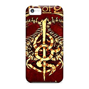 Hot Tpu Cover Case For Iphone/ 5c Case Cover Skin - Lamb Of God