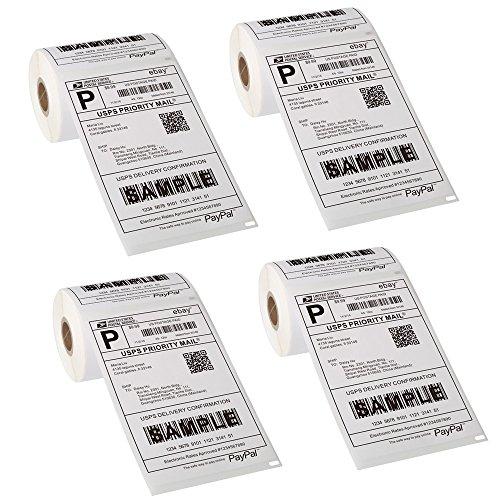 ([4 Rolls, 880 Labels] Premium Dymo Compatible 1744907-4