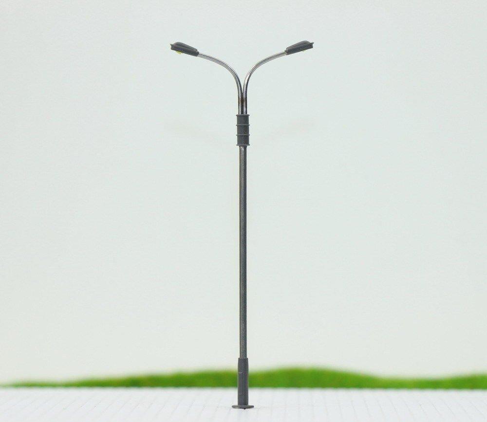 Evemodel 10pcs Model Railway Train Lamp Post Street Lights HO OO Scale LEDs NEW
